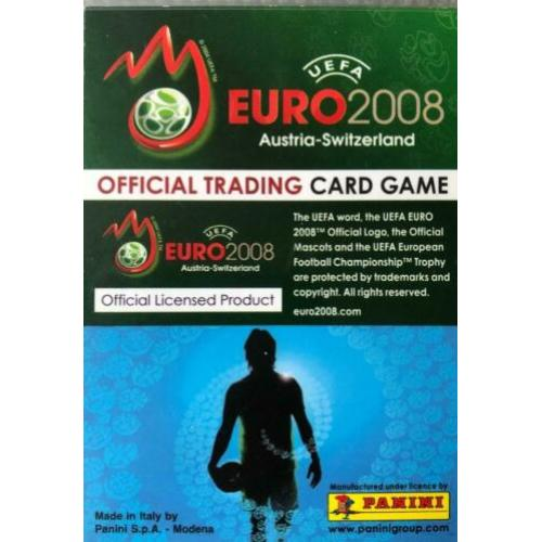 Panini cards Euro 2008 complete set